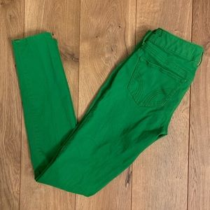 Hollister Green Skinny Jeans